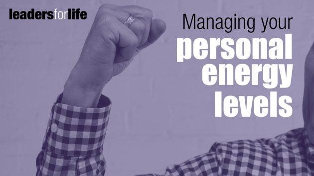 Personal Energy Levels | Leadership Development Sydney | the human enterprise