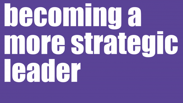 Becoming a More Strategic Leader | Leadership Development Sydney