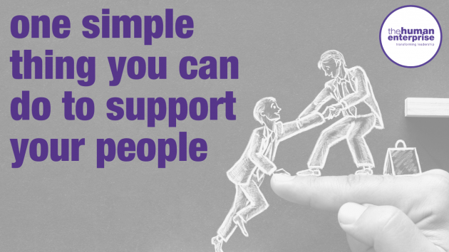 One simple thing you can do | Leadership Skills Training Sydney | the human enterprise